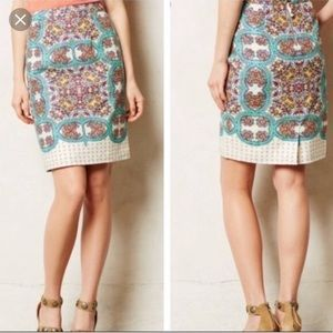 💕 LUCY AND LAUREL 💕 PAISLEY LINEN SKIRT💕